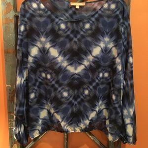 Ellen Tracy dolman long sleeve blouse